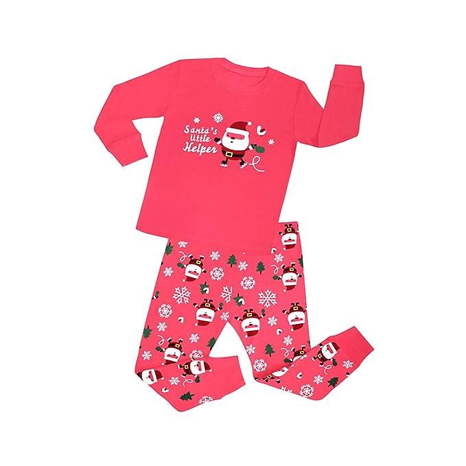 BMEIG Pijamas Niño Niña 100% Algodón - Ropa de Dormir Pijama Manga Larga Camisas con Pantalones 2-8 Anos Navidad Nightwear: Amazon.es: Ropa y accesorios