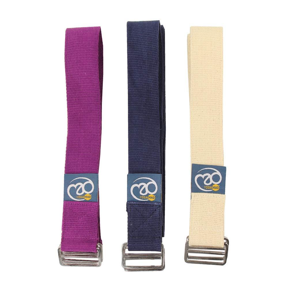 Yoga-mad Cinturón Yoga 2,5m, Azul: Amazon.es: Deportes y ...