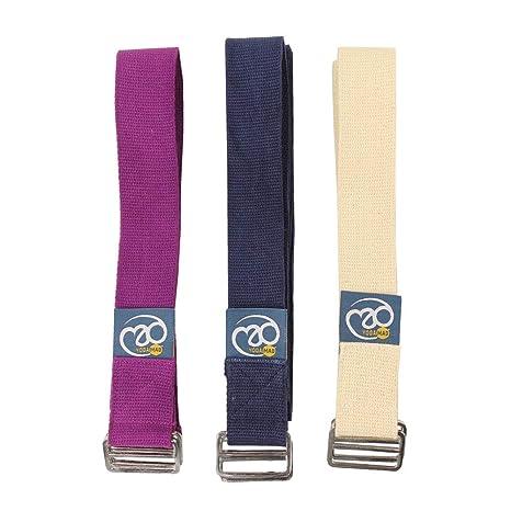 Amazon.com : Yoga Mad Cotton Yoga Belt - 2.5meter : Yoga ...