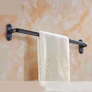 LHbox Tap Un Toallero Aluminio Espacio Punch-Free Estante Incorporado de una Sola Palanca Negra de Toallas de baño Adornos metálicos,59cm: Amazon.es: Hogar