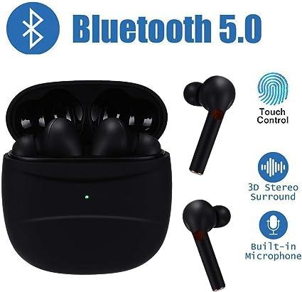 Lcluckyml Écouteurs Bluetooth 5.0 Durée de vie de 25 heures Écouteurs intra auriculaires étanches IPX5 Casque sans fil et double microphone