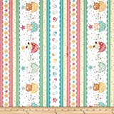 Cat Fabric - Baby Bundle - Border Stripe - 100% Cotton - By The Yard by Quilting Treasures