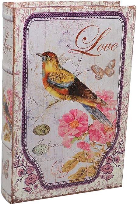 Vidal Regalos Caja Fuerte Forma Libro Pajaro Love 24 cm: Amazon.es ...
