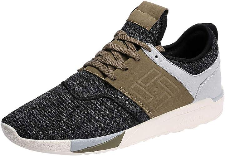 Sayla Zapatos Zapatillas para Hombres Casual Moda Verano Running Zapatos Transpirables Resistentes Al Desgaste Ligeros para Adultos Zapatos De Malla para Hombres Al Aire Libre: Amazon.es: Zapatos y complementos
