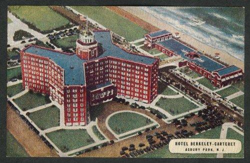 Hotel Berkeley-Carteret Asbury Park NJ postcard 1950s