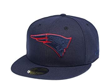 A NEW ERA Era England Patriots Blue Tonal 59Fifty Fitted Cap ...