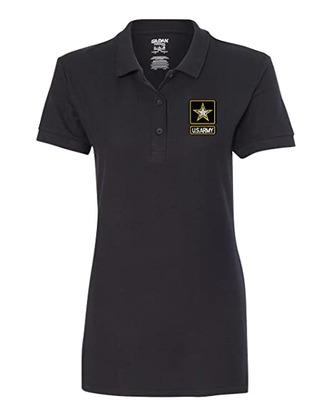 00fc0d098 US Army Custom Personalized Embroidery Embroidered Golf WOMEN Polo Shirt at  Amazon Women's Clothing store: