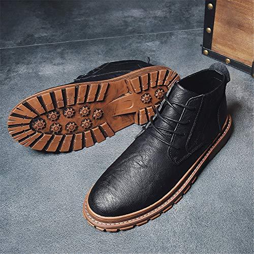 Mode Les Noir Ruiyue color Eu Marron Hommes Cuir Bottes À La Métal Pour Confortables 39 Boutonnière En De Bottines Taille Classique qRZtRO