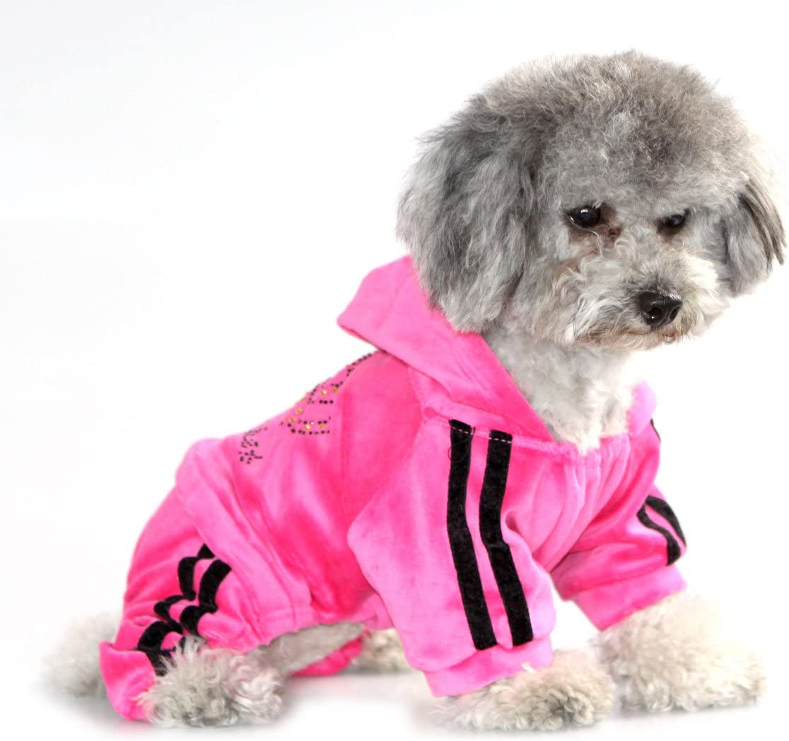 S-Lifeeling Puppy Clothes Dog Coat Jumpsuit Comfy Dog Pajamas Dog Shirt Stripes Pet Dog Clothes
