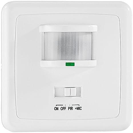 Revolt Juego de 4 interruptor de luz automática con sensor de PIR y acústica