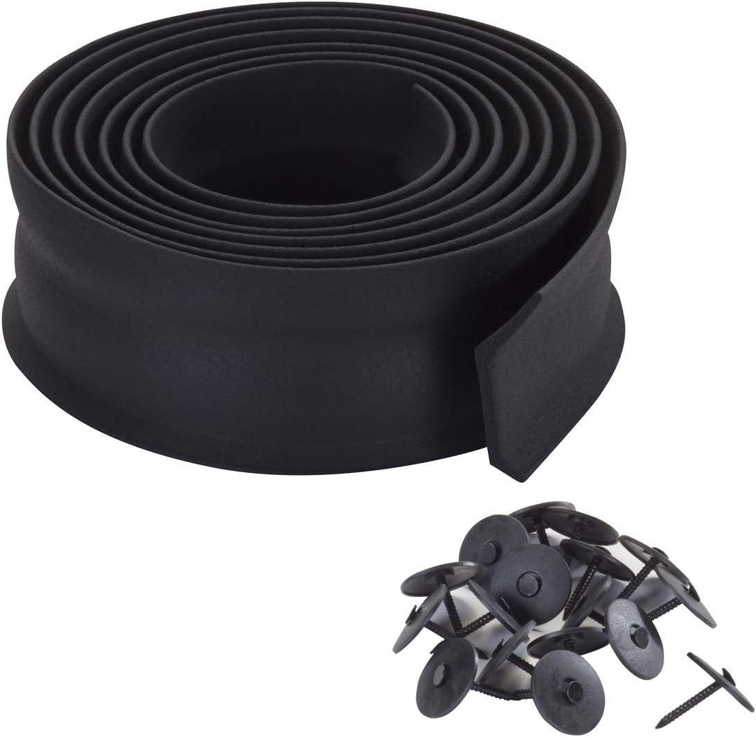 16 Feet Pack of 2 Black 3749 Garage Door Bottom Rubber M-D Building Products