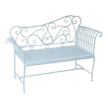 Hervorragend Outsunny® Gartenbank Parkbank Sitzbank Bank Gartenmöbel 2 Sitzer Metall ( Modell 4)