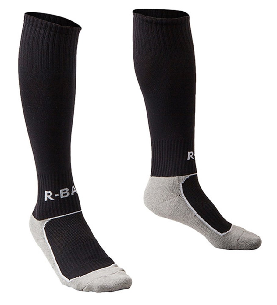 Football Socks for Little Boys Girls Black XS by KALAKIDS