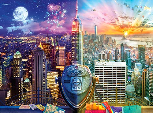 Buffalo Games - Night & Day Collection - Manhattan Skyline - 1000 Piece Jigsaw Puzzle, Multicolor