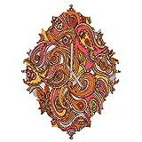 Deny Designs  Valentina Ramos, Spring Paisley, Baroque Clock, Medium