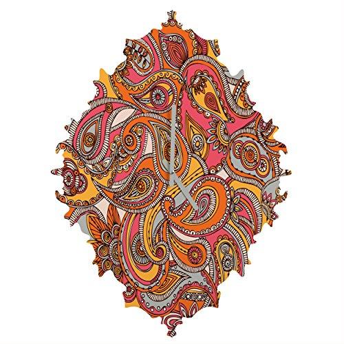 Deny Designs  Valentina Ramos, Spring Paisley, Baroque Clock, Medium by Deny Designs
