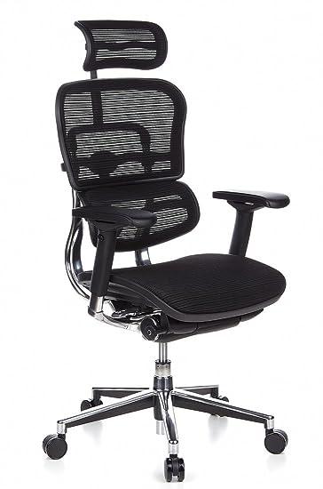 Bürosessel netz  hjh OFFICE 652111 Bürostuhl Chefsessel ERGOHUMAN Netzstoff ...