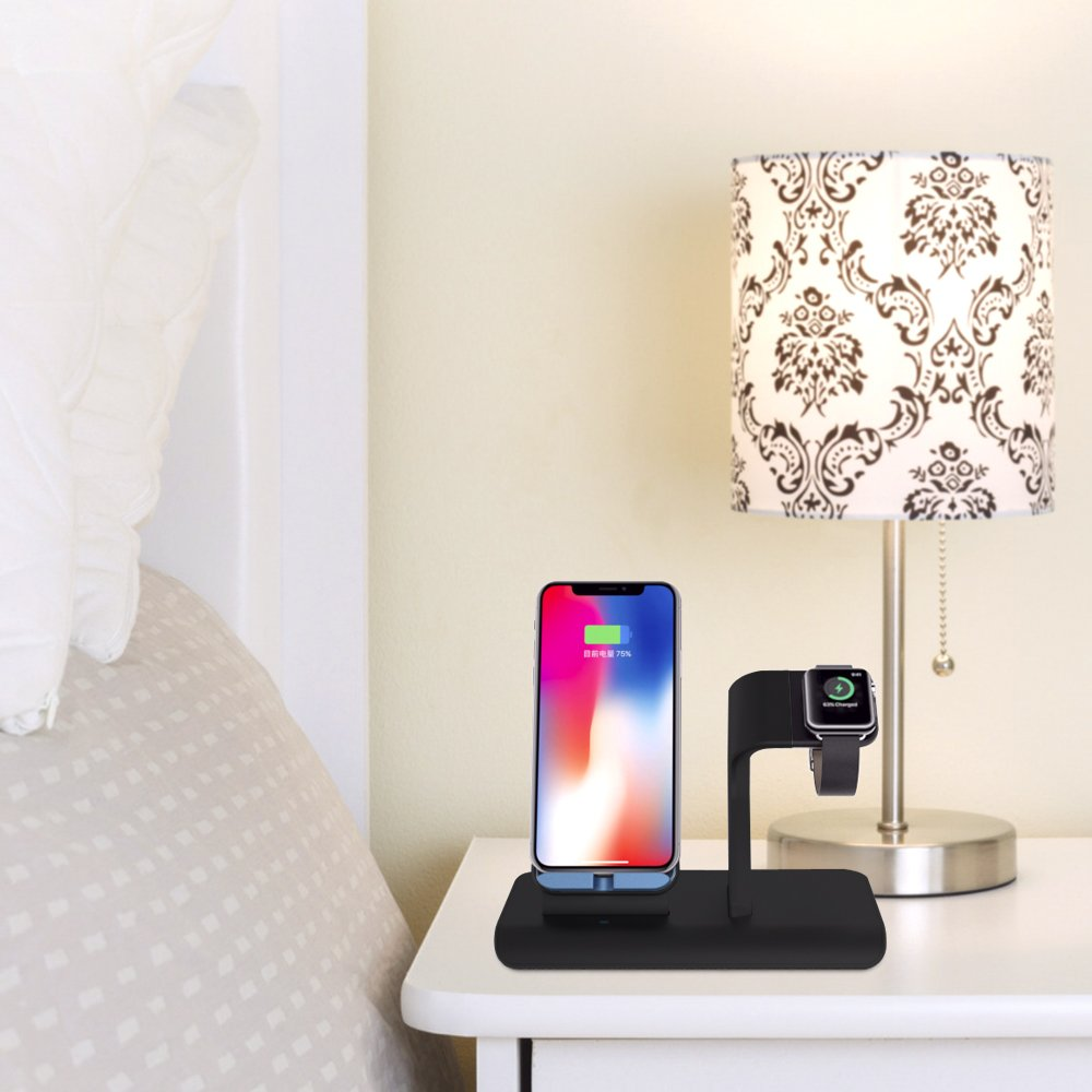 Apple Watch Stand charging docks & iPhone X Wireless Charger Stand for iPhone X/8/8 Plus,iwatch charger stand holder for Apple Watch Series 3,2,1 & Nike by XDODD (Image #7)
