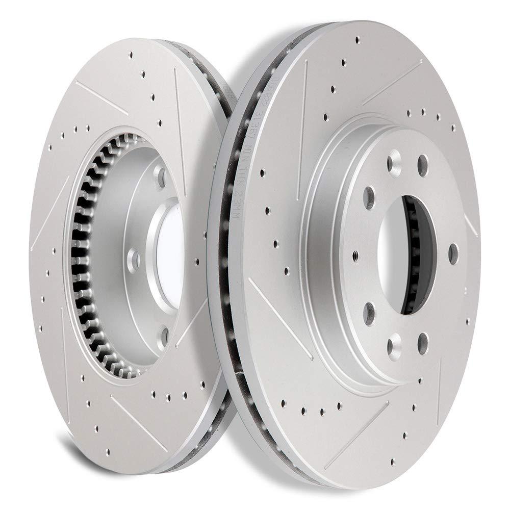 Front Disc Brake Rotor /& Ceramic Brake Pads For 2003-2005 Mazda 6