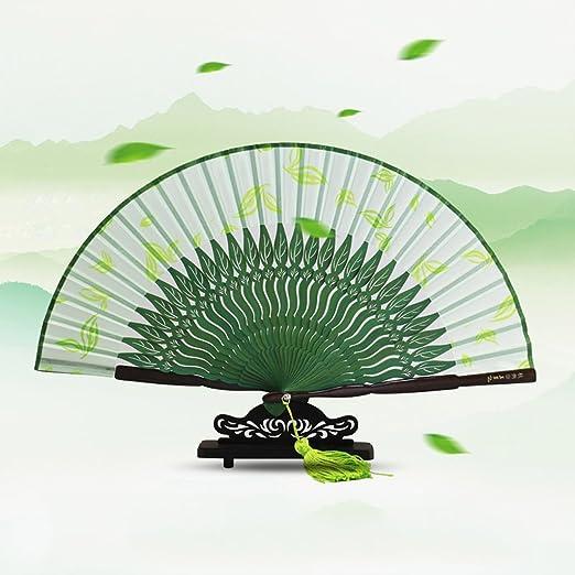 Ventilador japonés plegable ventilador de té ventilador de estilo ...
