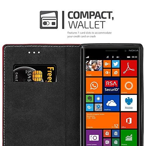 Cadorabo - Funda Estilo Book para >                                      Nokia Lumia 830                                      < de Diseño gamuza-Artificial / Cuero-Artificial con Tarjetero, Función de Soporte y Cierre Magnético Invisible