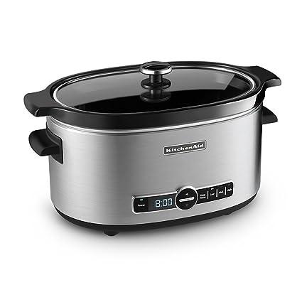 amazon com kitchenaid ksc6223ss 6 qt slow cooker with standard lid rh amazon com kitchenaid slow cooker ksc700ss0 kitchenaid slow cooker red