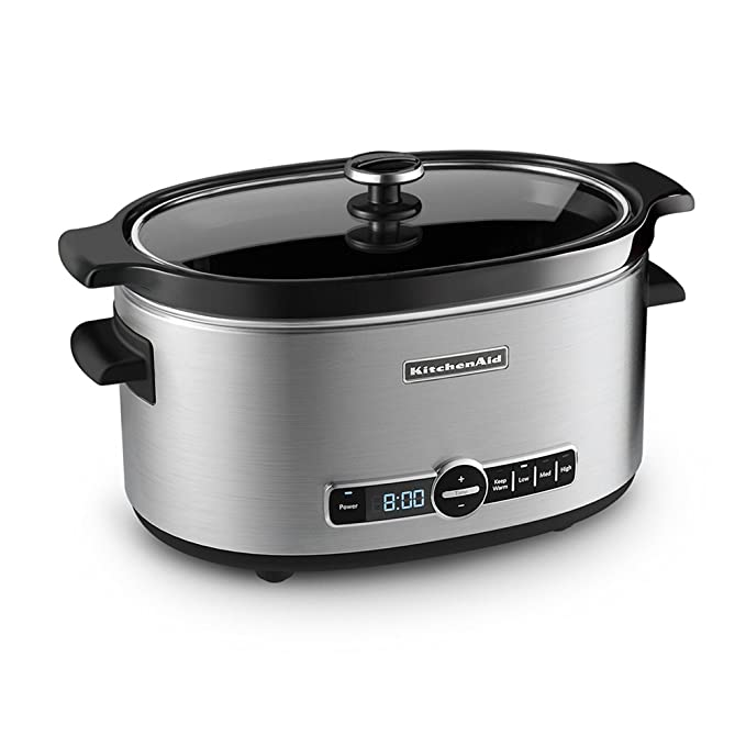 Amazon.com: Olla de cocción lenta KitchenAid de acero ...