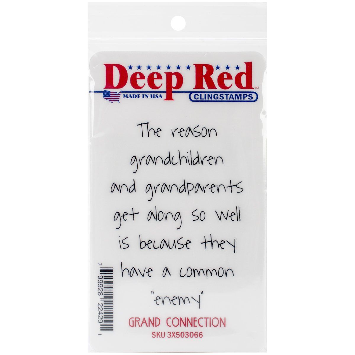Deep Red Stamps Grand Connection Rubber Stamp