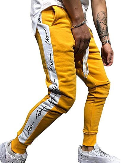 a9021dc08562ed Tomwell Jogginghose Herren Hose Stripe Pants Sport Fitness Trainingshose  Slim Fit Sweatpants Trainingshose Jogger Fitness Sport Joggerhose  Stoffhose  ...