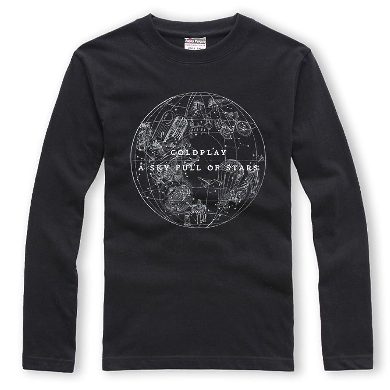 CosDaddy ® Coldplay A Sky Full Of Stars T-Shirt Langarmshirt Rock Fashion:  Amazon.de: Bekleidung