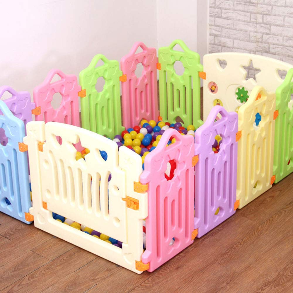 10 pieces WHSS Fence Baby Crawling Baby Toddler Safety Fence Indoor Toy Door Bar (UnitCount   16 pieces)