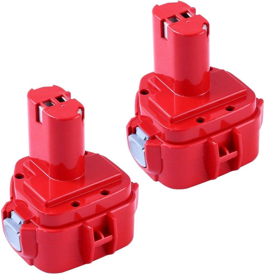 2X PA12 3.0AH Ni-MH Reemplazo para Makita 12V Batería 1220 1222 1233 1234 1235 1235F 192696-2 192698-8 192698-2 192681-5 192698-A 193138-9 193157-5