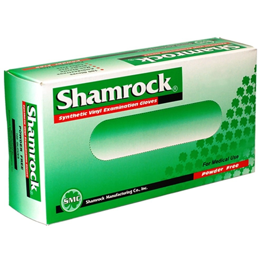 Shamrock 20212-M-bx Med Glove, Vinyl, No Powder, Thin, Cheap, Medium, Clear SMC