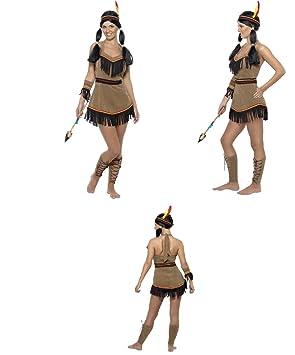 Fancy Dress Four Less Disfraz De Princesa India Para Adultos Diseno - Disfraz-india-americana