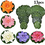 JUSTDOLIFE-5PCS-Floating-Flower-Artificial-Water-Flower-Decorative-Foam-Artificial-Plant-with-Fake-Lotus-Leaves