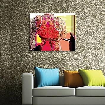 Vertikale décoration murale tableau toile corrida popart couleurs vives 2
