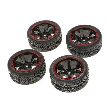 4x Rally Neumáticos Ruedas y Llantas con 12 mm Hexagonal para RC 1/10 HSP Coche: Amazon.es: Juguetes y juegos