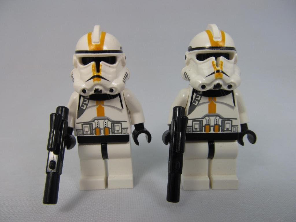 LEGO Star Wars Yellow Episode 3 Clone Trooper Lot (X2) Minifigures