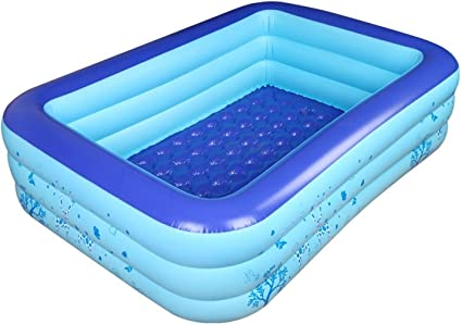 Amazon.com: Dressbar Inflatable Pool Inflated Swimming Pool ...