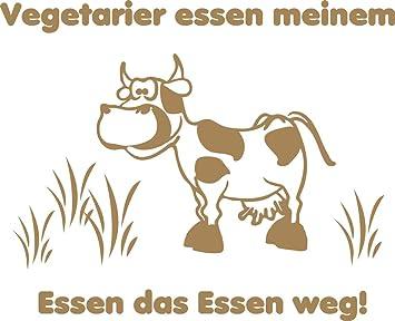 GRAZDesign Aufkleber Küche mit Kuh - Küche sprüche Vegetarier Spruch ...