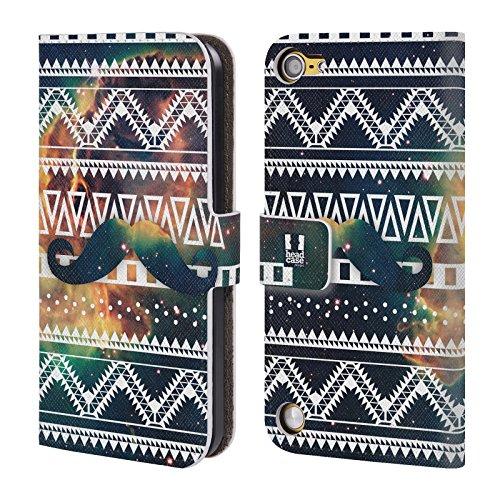 Head Case Designs Baffi Aztechi Pattern Tribali Nebulose Cover a portafoglio in pelle per iPod Touch 5th Gen / 6th Gen
