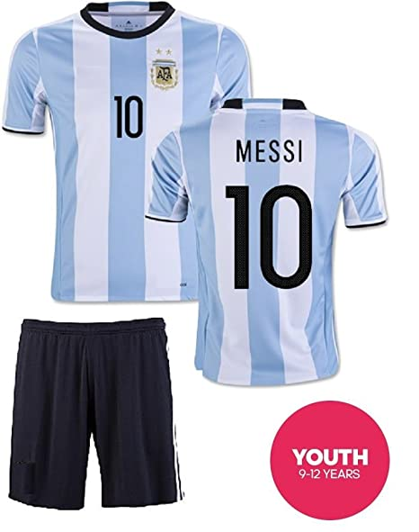 pretty nice e7dbc 18f2c Youth MESSI # 10 World Cup ARGENTINA Home jersey with shorts -Many  sizes/ages