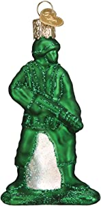 Old World Christmas Army Man Toy Ornament, Green