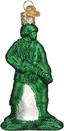 Amazon Com Old World Christmas Army Man Toy Ornament Green Home Kitchen