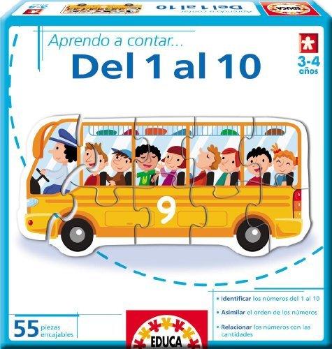 APRENDO A CONTAR DEL 1 AL 10.(EDUCATIVOS BASICOS).(55 PZAS) by Educa Borras