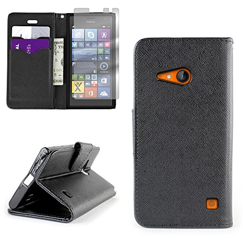 Click to buy Nokia Lumia 735 Case, CoverON CarryAll Series [Stand View] Lumia 735 Wallet Case [Slim Fit] [Stand Feature] Premium Protective Pouch Cover for Nokia Lumia 735 + Screen Protector - Black / Black - From only $35.99