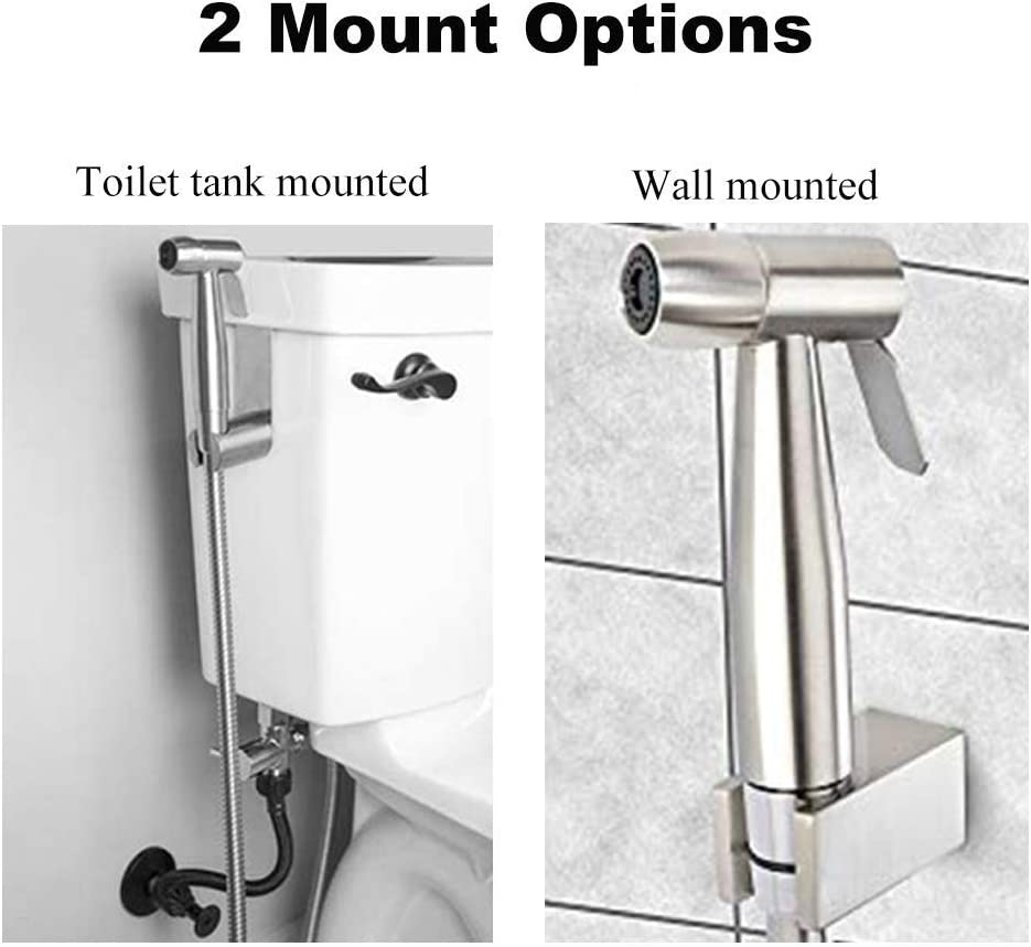 Handheld Bidet Sprayer Kit-Stainless Steel Douche Muslim Shower Spray Personal Hygiene Pet Bath