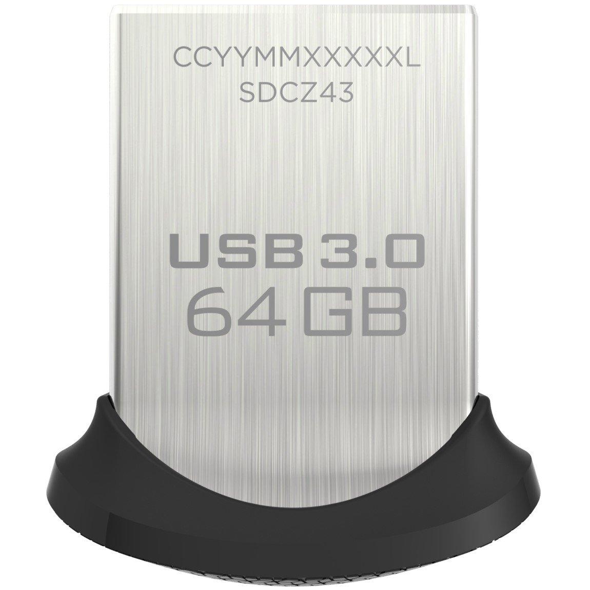 SanDisk Ultra Fit Unità Flash, USB 3.0 da 64 GB con Velocità fino a 150 MB/sec