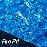 Cheap 10-pound Bermuda Blue Crushed Fire Glass 3/8″-1/2″ Firepit Glass 10 Pounds