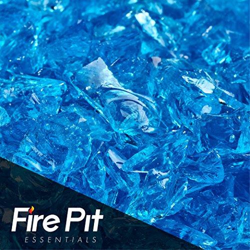 Cheap 10-pound Bermuda Blue Crushed Fire Glass 3/8″-1/2″ Firepit Glass 10 Pounds